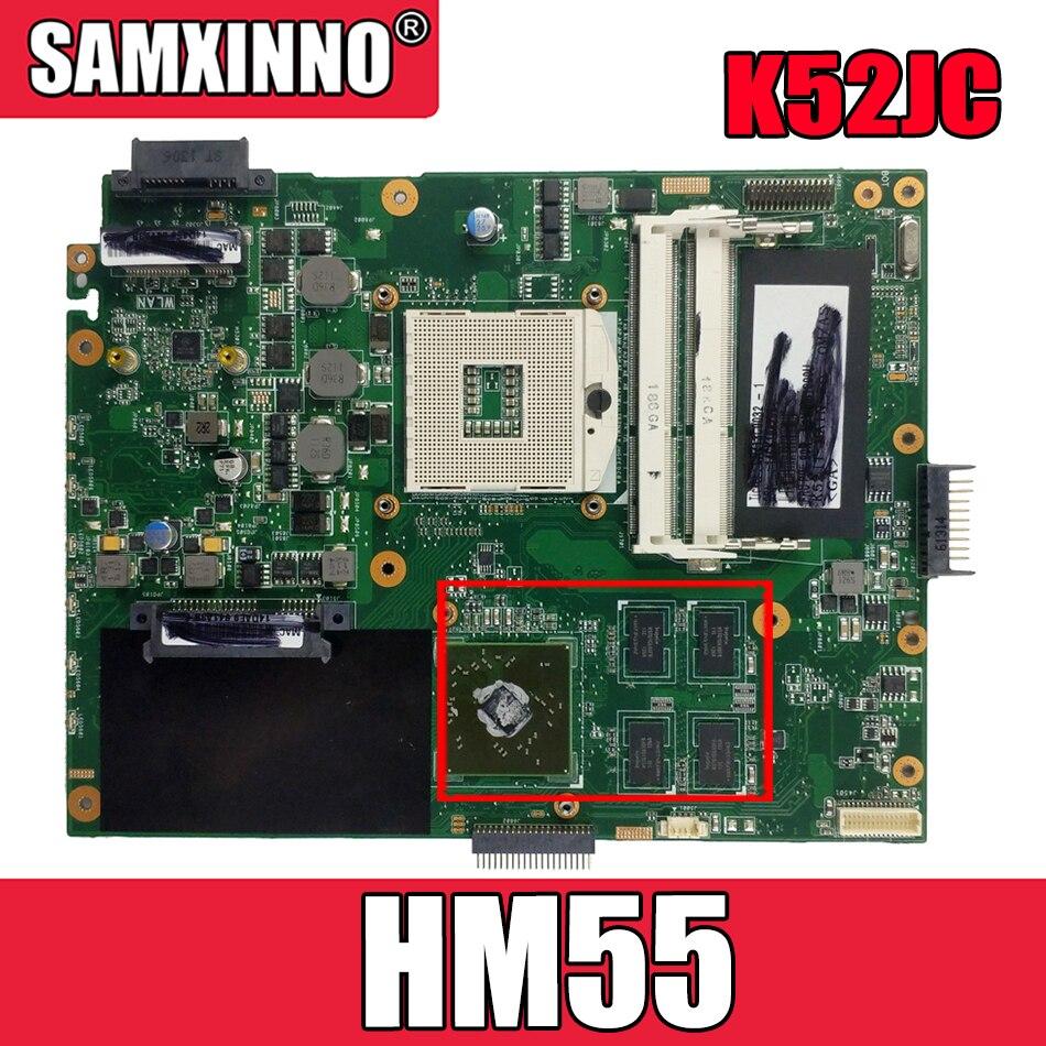 Akemy K52JR لوحة الأم للكمبيوتر المحمول ASUS K52JR K52JT K52JC اختبار اللوحة الرئيسية الأصلية HM55
