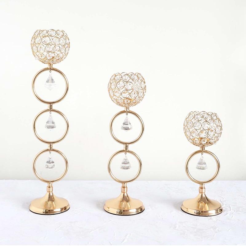 Oro romántico de cristal | Decoración de la boda mesa centro de...