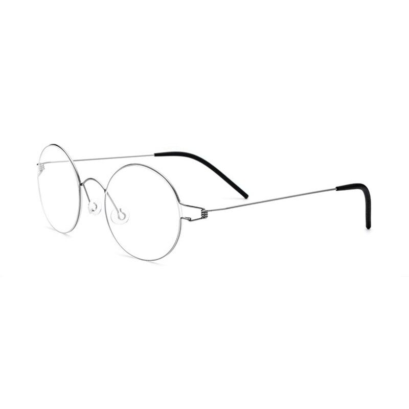 Vazrobe hombre sin tornillos gafas redondas gafas de titanio gafas montura para hombres Marco de gafas ultraligero hombre miopía Vintage