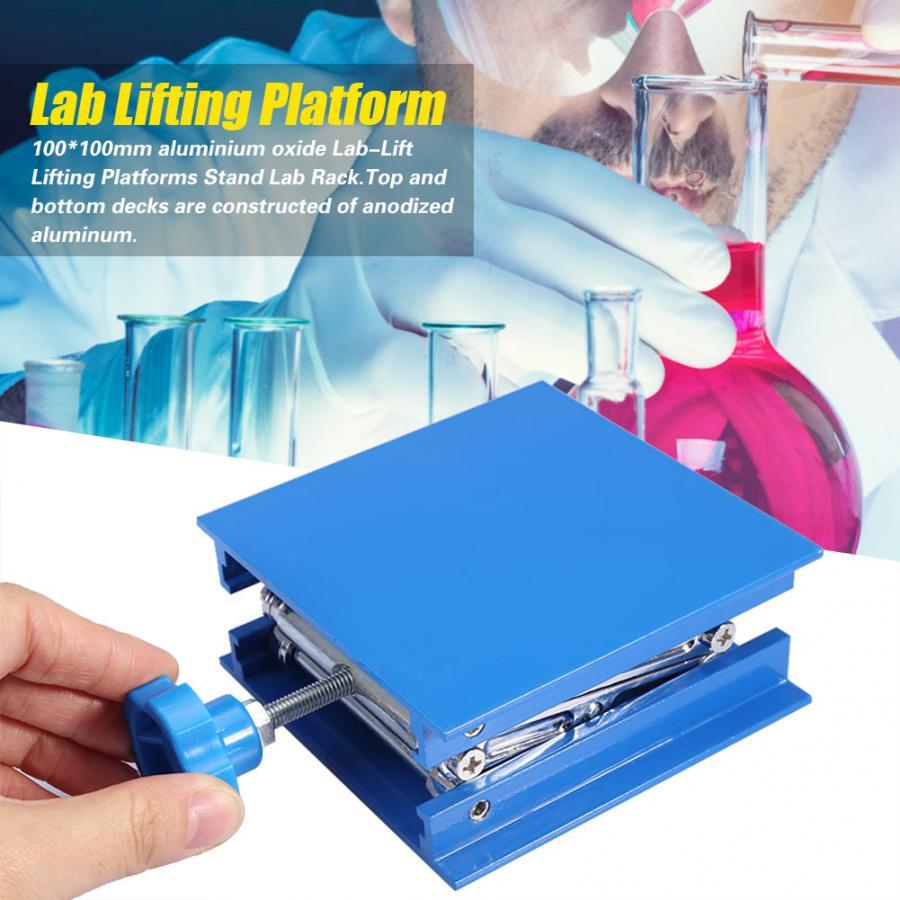 100x100mm ajustável mesa de elevação de alumínio carpintaria gravura suporte de levantamento do laboratório plataforma elevador rack