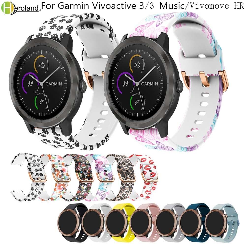 Correa Original para Garmin Vivoactive 3/vivoactive 3 música/para Samsung Gear Sport S4 silicona suave inteligente pulseras