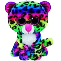 new 6 15cm ty big glitter eyes dotty multicolor leopard plush stuffed animal collectible soft doll toy boy and girl gift