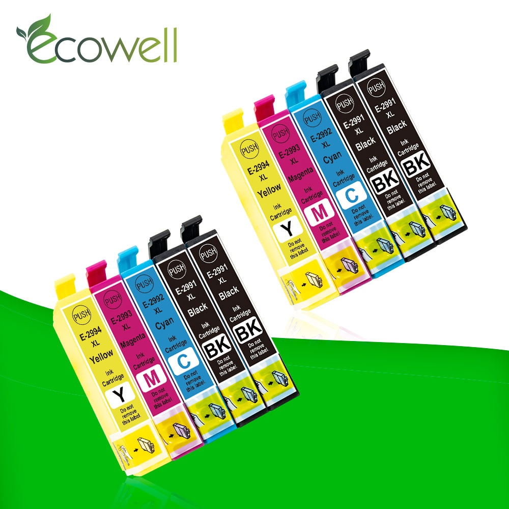 Ecowell 4 Noir T 2991 T2991 29XL cartouche dencre T2994 compatible pour EPSON XP255 XP257 XP332 XP335 XP342 XP 235 245 247 imprimante