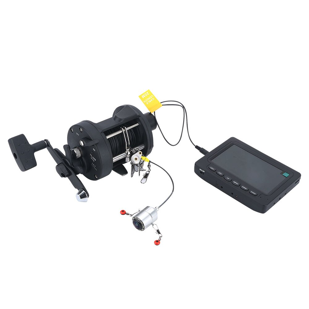 4.3 Inch Color Monitor HD 1000TVL 25M IRLEDs Underwater Fishing Camera Fish Finder Kit Night Vision 175 Degrees Sea wheel Camera enlarge