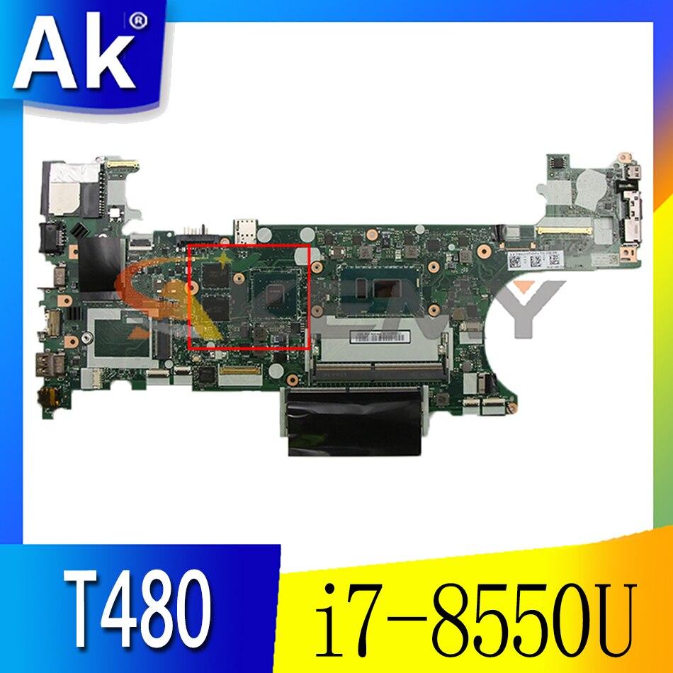 ل ThinkPad T480 اللوحة الأم للكمبيوتر المحمول ET480 NM-B501 ث/وحدة المعالجة المركزية i7-8550U MX150 وحدة معالجة الرسومات FRU 01YR334 01YR335 01YR367 اللوحة الرئيسية
