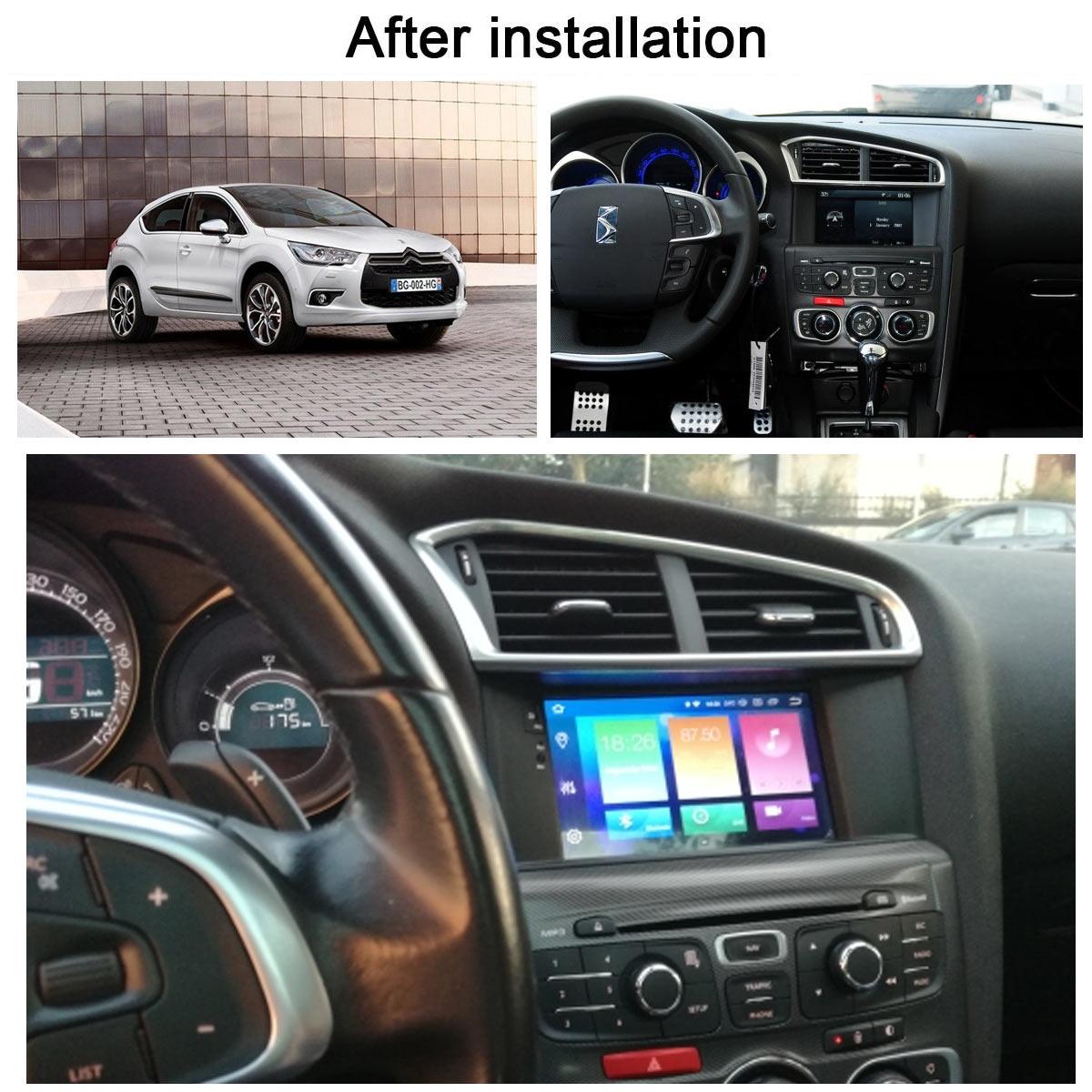 Citroen C4 C4L DS4 2011-2015 راديو السيارة لاعب أندرويد 10 64GB لتحديد المواقع والملاحة مشغل وسائط متعددة الراديو