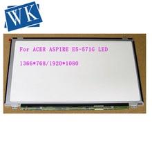 "15.6 ""matris ACER ASPIRE E5-571G led ekran için 30pin dizüstü lcd ekran"