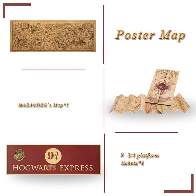 Potters kreator mapy maraudera 9 3/4 mapa z plakat mapa Harried Hogwart Collection