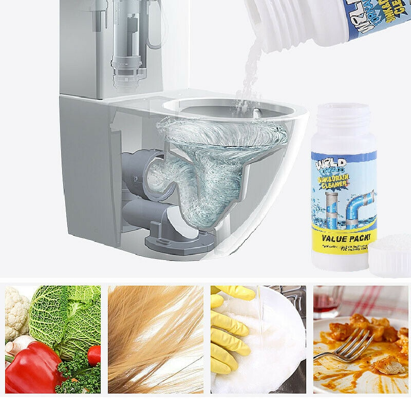Powerful Sink Drain Cleaner Pipe Dredging Agent for Kitchen Sewer Toilet Pluger Cleaner Closestool Clogging Cleaning Wash Tools enlarge