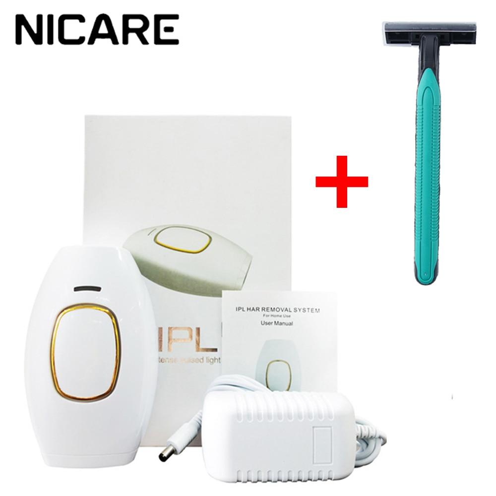 جهاز إزالة آلة إزالة الشعر بالليزر IPL اليدوي آلة إزالة الشعر بدون ألم الجسم الكهربائية المهنية بيكيني الكهربائية لنزع الشعر