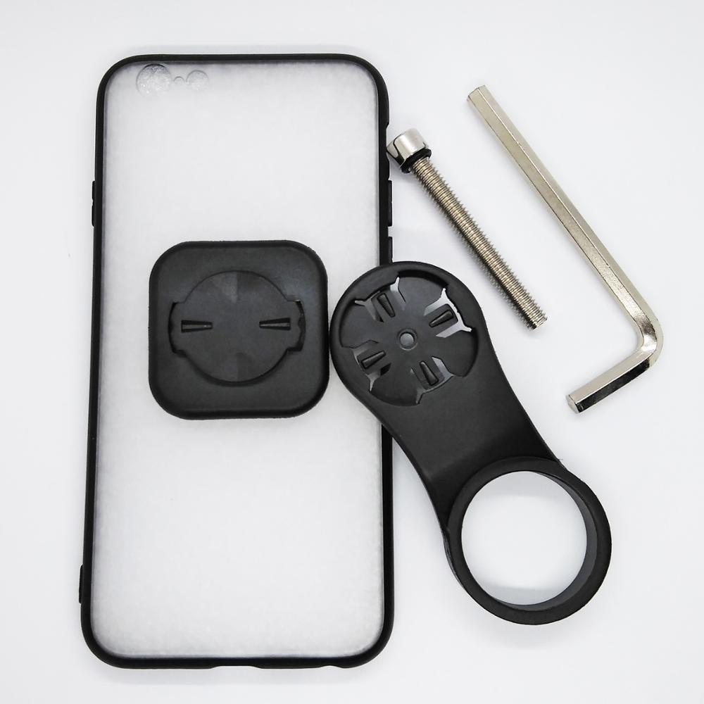 Soporte de montaje para teléfono móvil de bicicleta con tapa de vástago y carcasa de TPU para iPhone 6/6S/7/ 7 Plus/8/8 Plus/11 Pro
