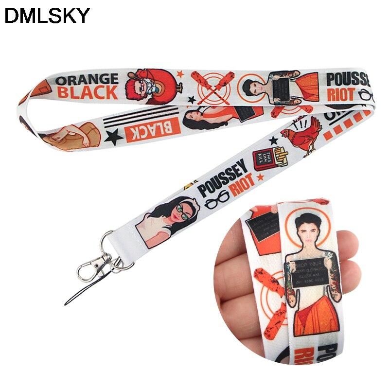 DMLSKY, llaveros de cordón para prisión para mujer, identificación, cordón, cuerda para teléfono móvil, cordón, correas para el cuello, accesorios M4193