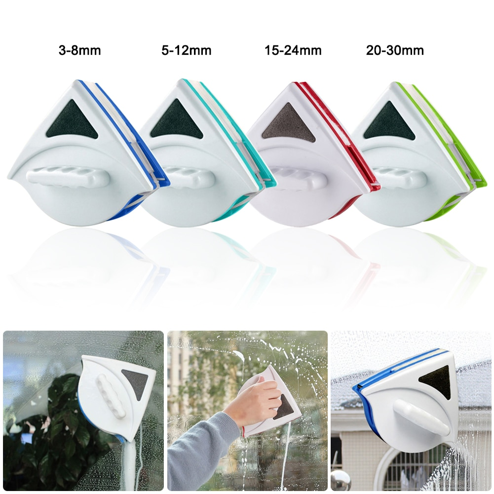3-30mm Window Glass Cleaner Household Cleaning Tool Wiper Magnet Double Household Cleaning Tool Magnetic Window Cleaner Glass