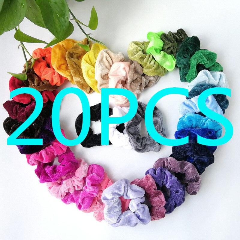 20 piezas de goma del pelo para las mujeres elástico bandas de goma para el cabello chicle niñas Akcesoria ¿włosów Liny kucyk10.2