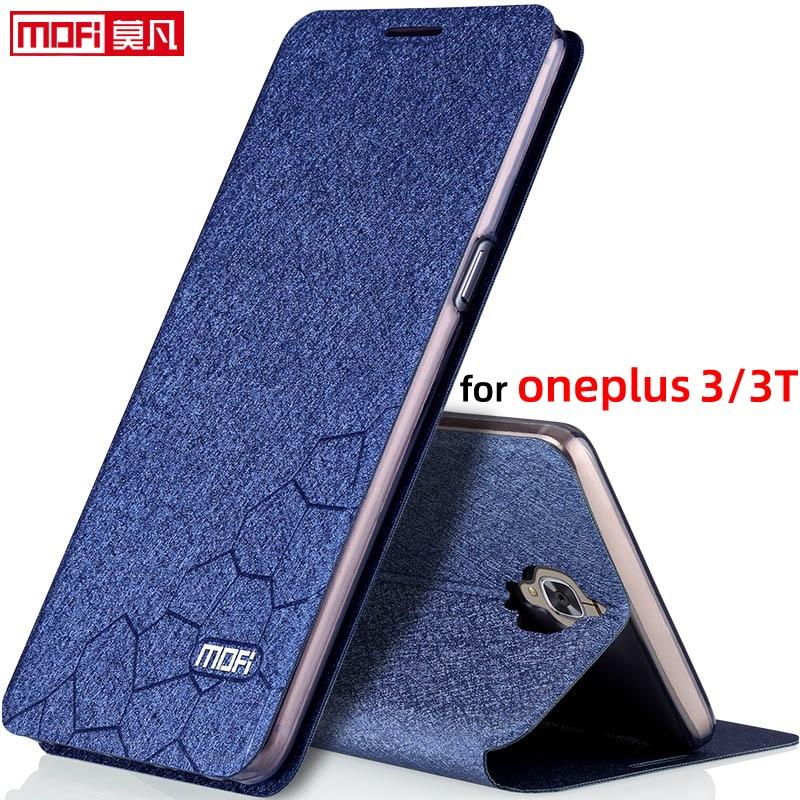 """Capa para oneplus 3t caso oneplus 3 caso da aleta suporte de couro mofi capa original oneplus 3 capa 5.5 """"de volta silicone 3t coque caso"""