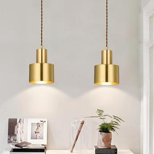 Nordic Gold Pendant Light Simple Restaurant Bar Bedroom Hanging Lamp Minimalist Led Pendant Lamp Decorations For Home