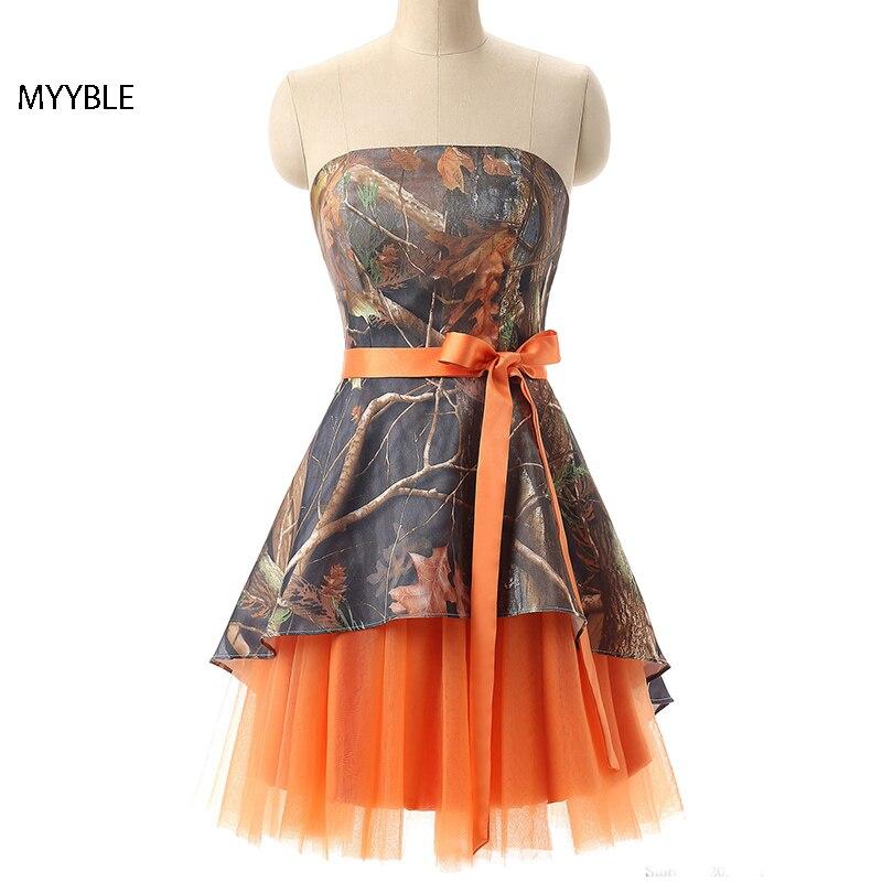 MYYBLE-Vestidos de dama de Honor, de camuflaje, talla grande, vestido de fiesta...
