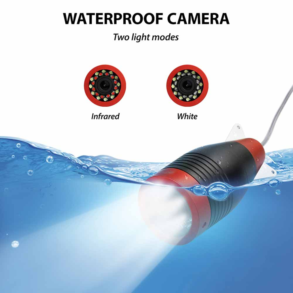 Fishing Camera Set 4500MA 1280*720PX HD Night Vision Underwater Camera For Fish Finder For Outdoor Fishing эхолот на лодку enlarge