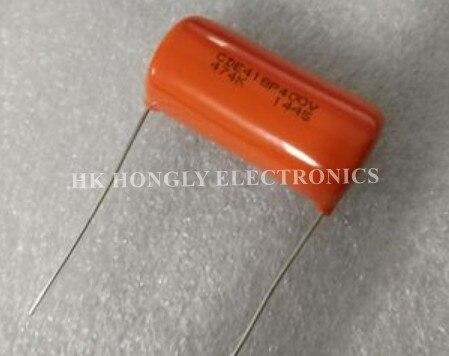 20 pces cde418p400v 474k cde 418p 400v 0.47uf p = 35mm capacitor de filme