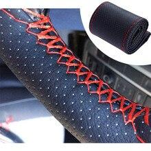 DIY Lenkrad Abdeckung weiche Leder braid Für Kia Ceed Rio Sportage R K3 K4 K5 K7 K9 Sorento Cerato picanto Morgen Karneval