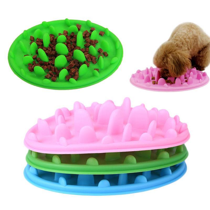 Plato de silicona para comida lenta Dod, alimentador interactivo para perros lento Multicolor, alimentador creativo bonito para mascotas, Dieta Saludable