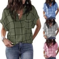 large size loose womens blouses summer new style womens shirt tops casual lapel women blouses