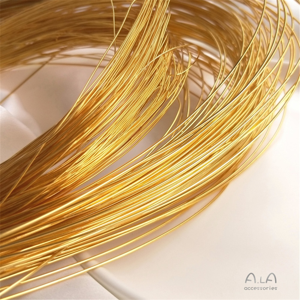 18K gold coated strong color semi-hard wire skin injection gold copper wire manual shape winding diy first jewelry material