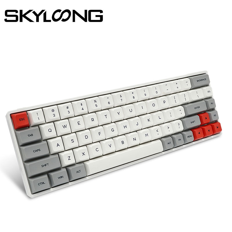 SKYLOONG SK68 PCB Mechanical keyboard Wireless Bluetooth Gaming Keyboard Hot Swappable ABS Keycaps Detachable Cable For Win/Mac