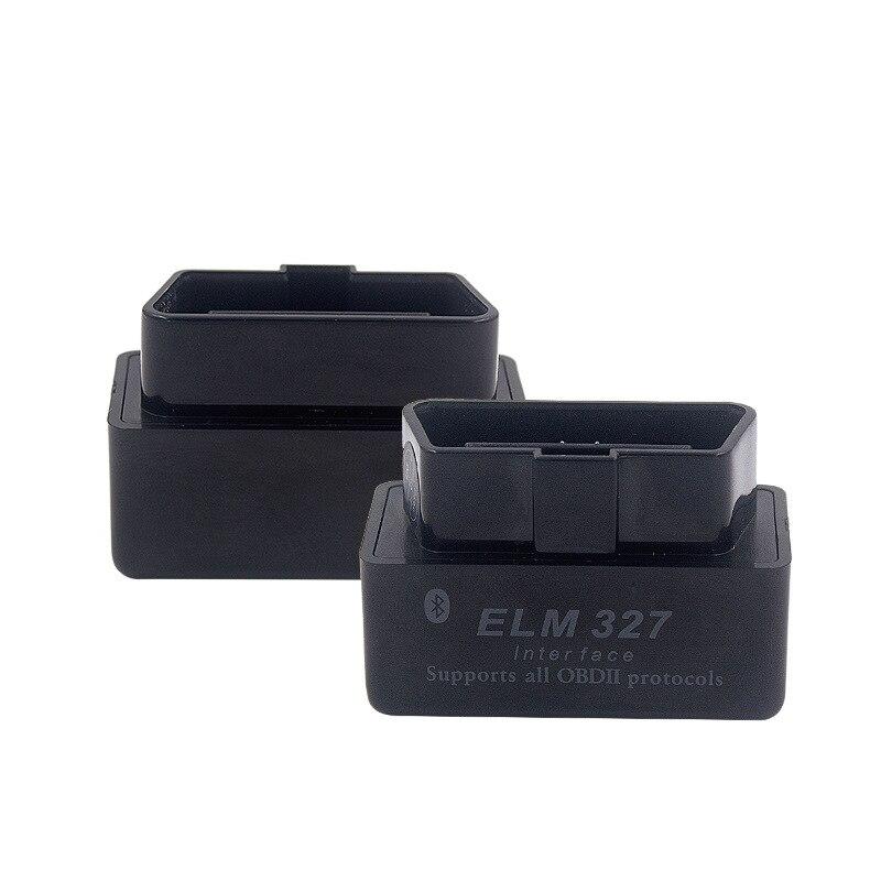 Escáner OBD2 negro para Ford Hyundai Kia Opel Alfa VW Audi BMW V2.1 ELM327 interfaz Bluetooth OBDII escáner herramienta de diagnóstico de coche