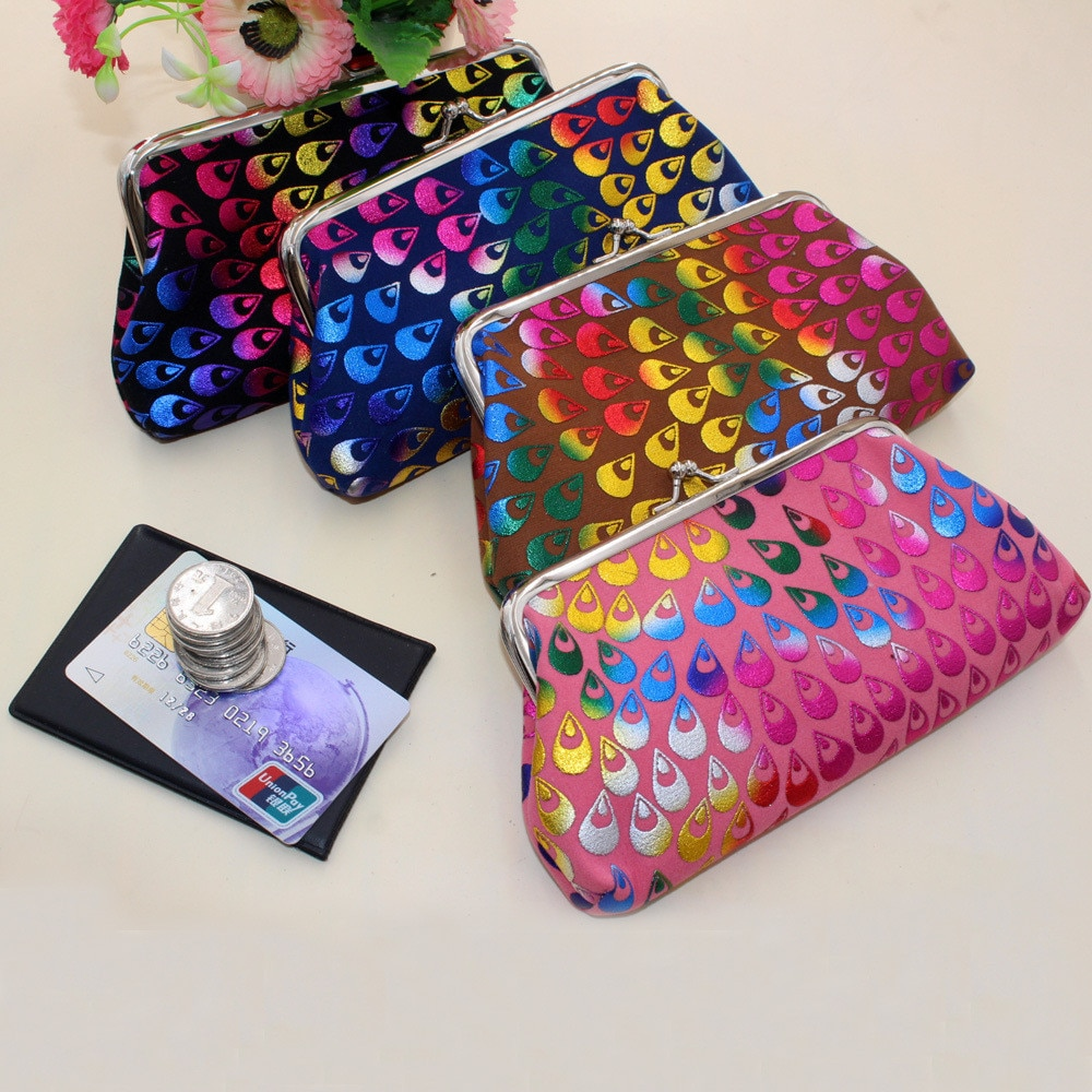 Новые кошельки, модный ретро кошелек для монет, женские держатели для карт из плюшевой ткани, подвесной кошелек, клатч, женские кошельки