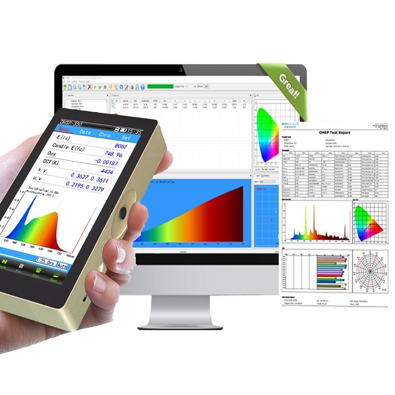 OHSP350 يده مطياف ضوء الطول الموجي متر مع تحليل برامج الكمبيوتر