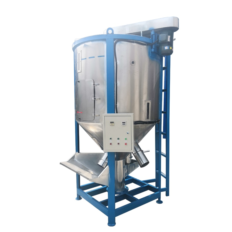 Vertical stainless steel mixer plastic powder particles heating drying mixer 500KG large self-absorption mixing material