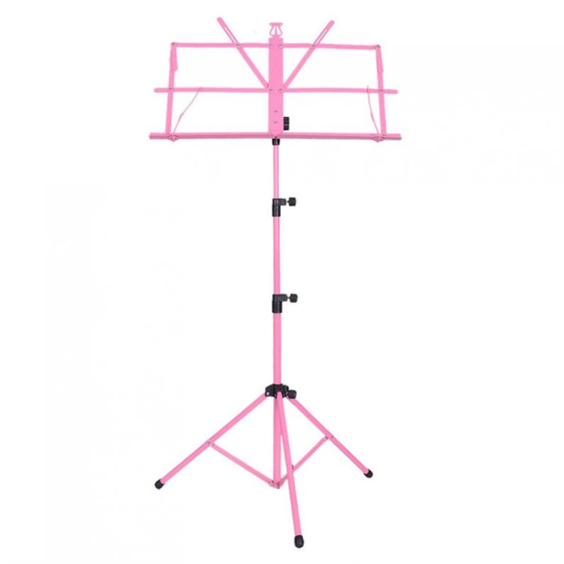 Colourful Folding Lightweight Music Stand Aluminum Alloy Tripod Stand Holder Height Adjustable with Carrying Bag Music stand enlarge