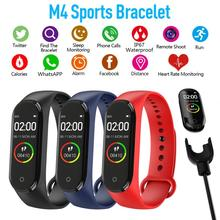 Reloj M4 Fashion Color Screen Smart Band Heart Rate Monitor Smart Watch 2020 Men Women Student Blood