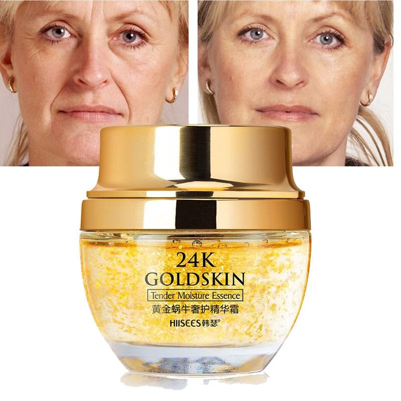 24K Gold Snail Collagen Face Cream Anti-Aging Whitening Moisturizing Creams Brighten Skin Remove Acne Anti Wrinkle Skin Face недорого