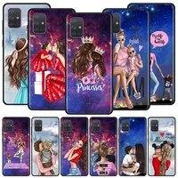case for samsung galaxy a51 a71 a21s a31 a41 m31 a11 m30s m51 a12 a91 a81 soft phone cover funda capa woman girl super mom baby