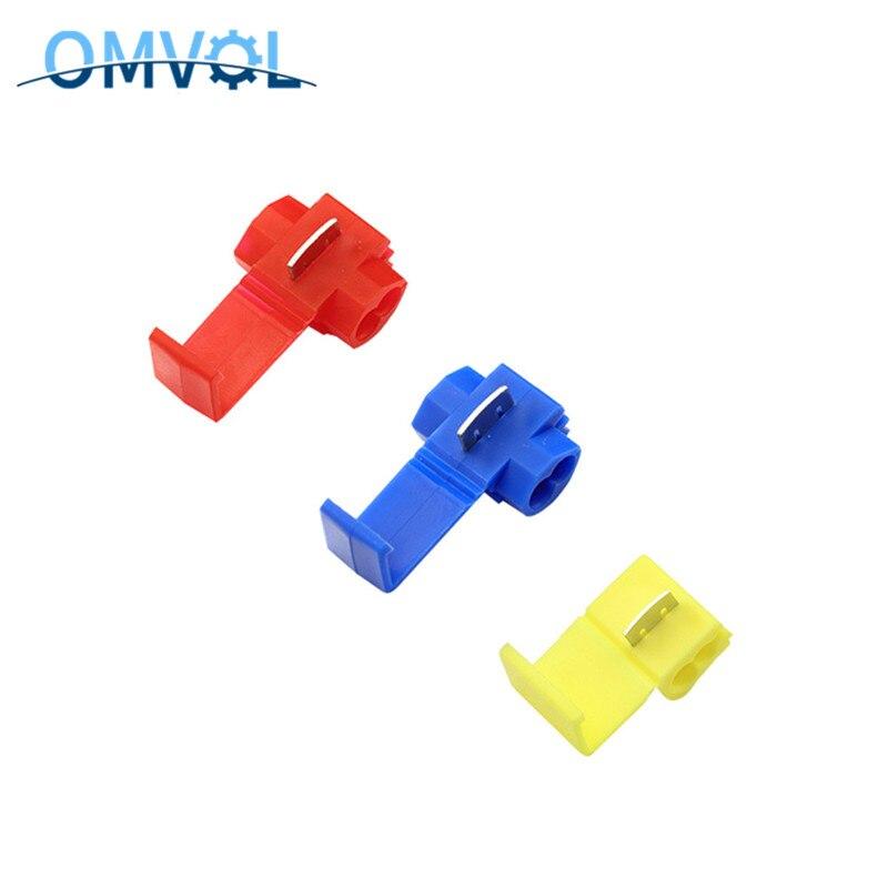 5 шт/10 шт Красный Синий Желтый скотч замок быстрого соединения 22-18/18-14/12-10 AWG клеммы обжимной провод разъем для 801P3 802P3 805P3