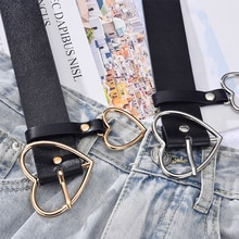 2021 New PU Leather Ladies High Quality Alloy Love Pin Buckle Fashion Retro Belt Dress Jeans Decorat