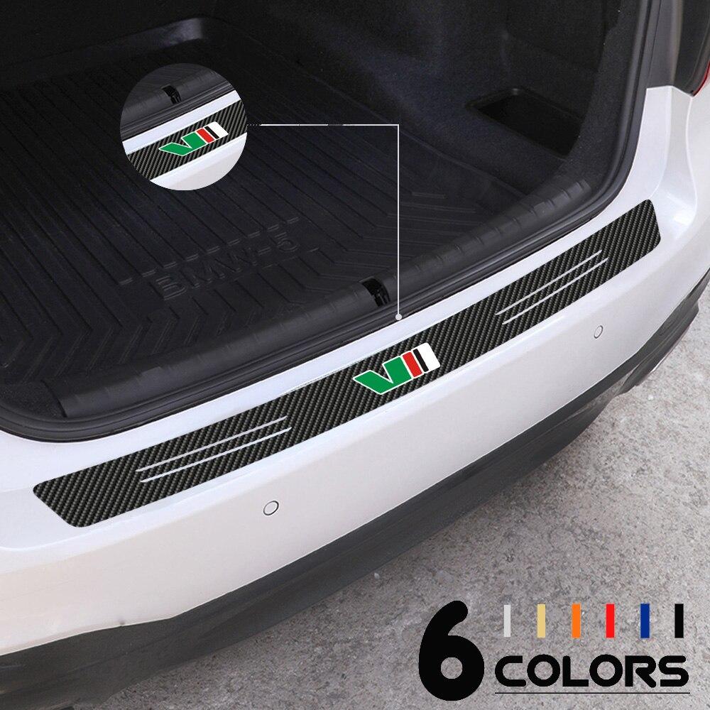 Auto Styling 1 stücke VII Logo Emblem Carbon Faser Auto Hinten Stoßstange Scuff Platte Aufkleber Aufkleber Für SKODA Octavia 1 2 3 a5 a7 RS Fabia