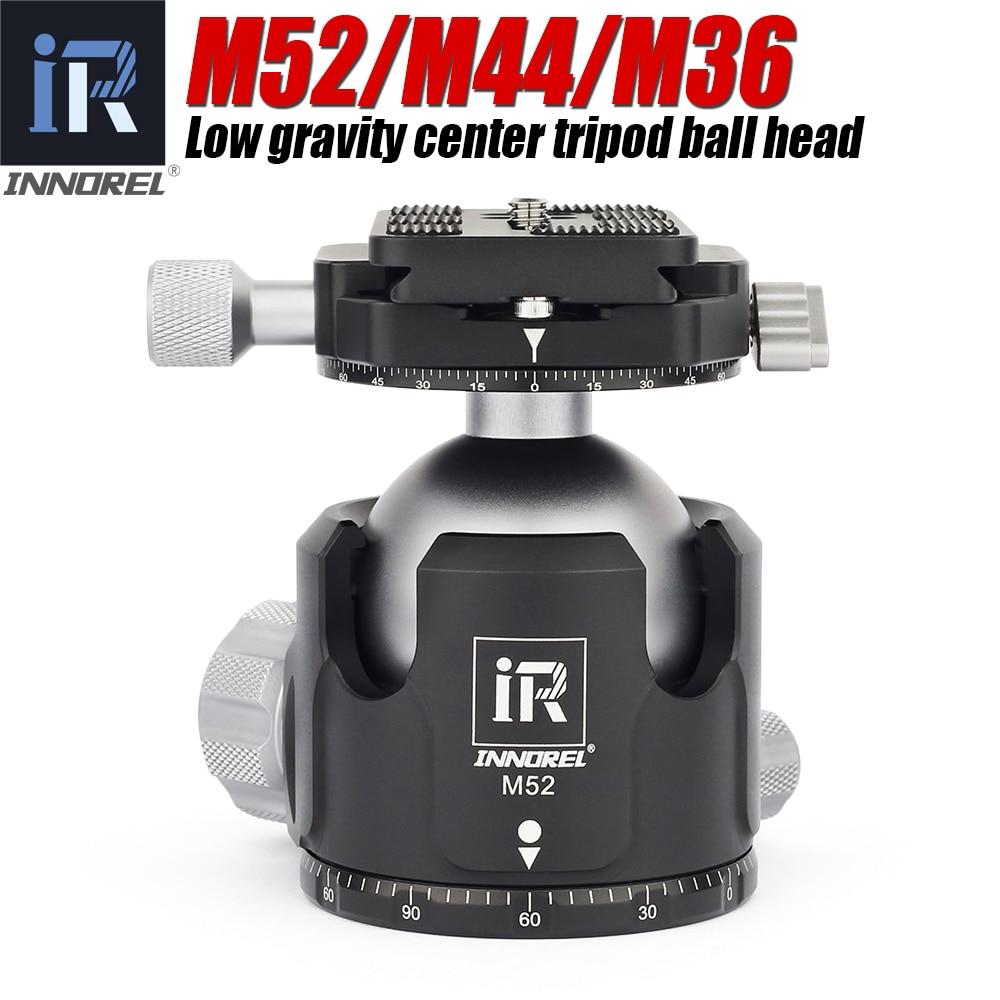 INNOREL M52/M44/M36 الكرة رئيس بانورامية فيديو حامل رئيس جديد منخفض مركز الجاذبية حامل ثلاثي من الألمنيوم ballhead أقصى حمولة 30 كجم