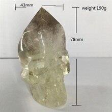 Cráneos naturales cuarzo cristal a la venta piedras y cristales decoración del hogar cristal decorativo crania