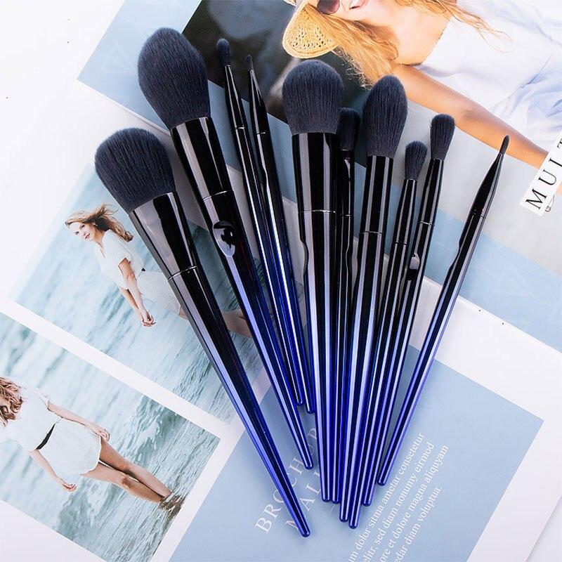 10Pcs Makeup Brushes Set Professional Foundation Powder Eyeshadow Lip Eye MakeUp Blush Cosmetics Shadow Blending Maquiagem недорого
