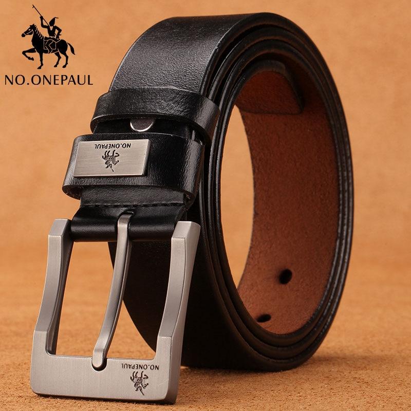 NO.ONEPAUL leather belt men cummerbunds belt male men belt pin buckle fancy vintage jeans male genui