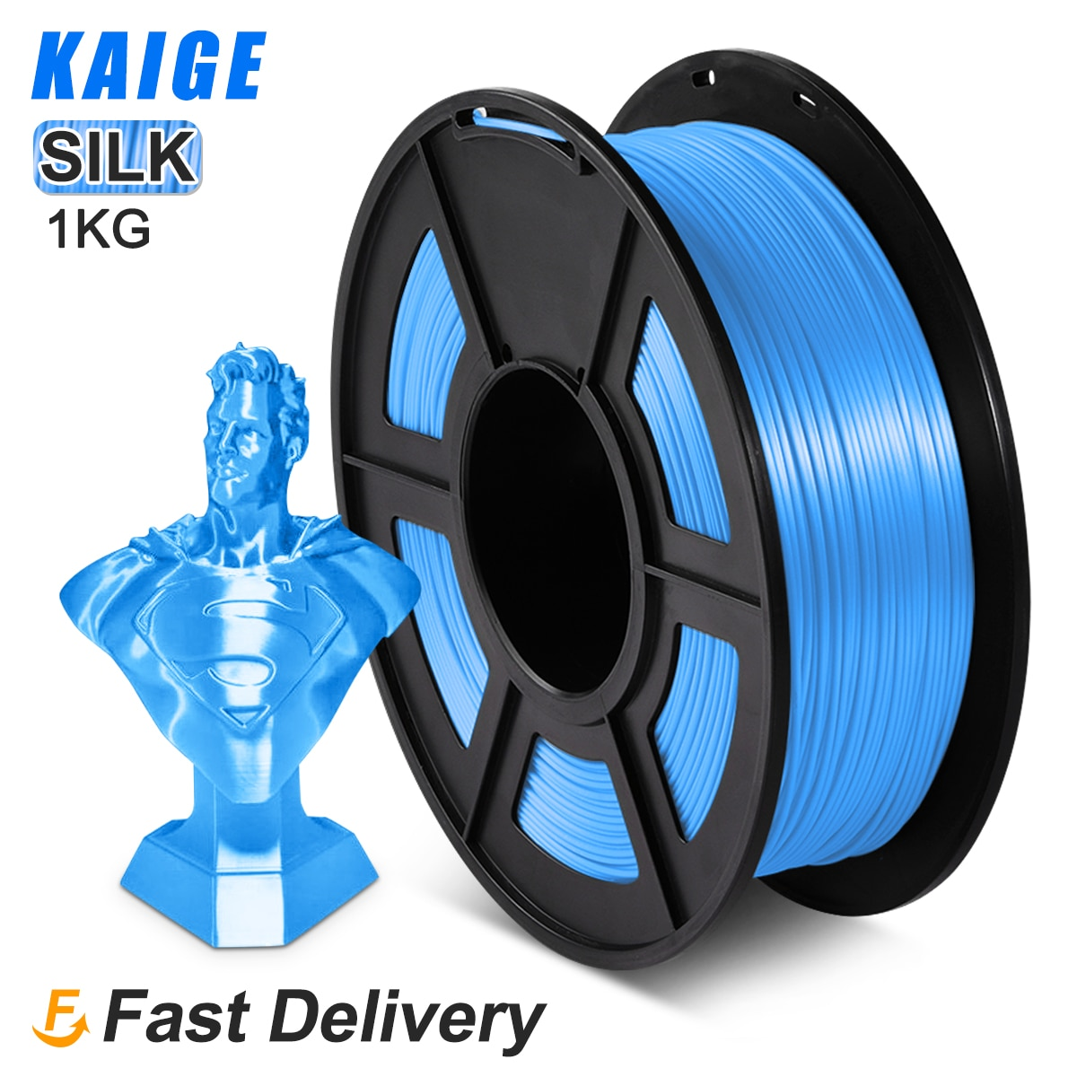 KAIGE-ملف طباعة ثلاثي الأبعاد من الحرير PLA ، 1.75 مللي متر ، 1 كجم ، متعدد الألوان ، للطباعة