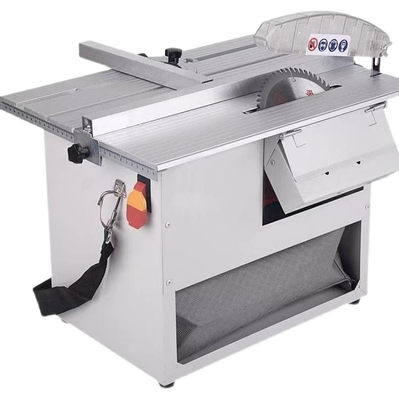 Multifunctional small table saw solid wood floor cutting machine woodworking table saw cutting machine dust-free saw enlarge