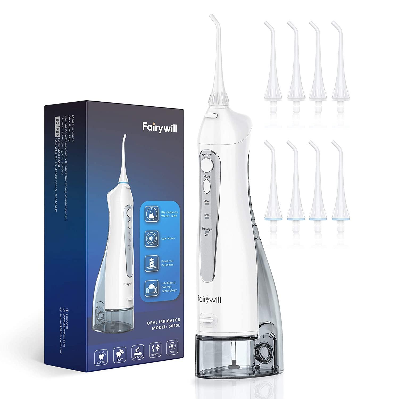 جهاز الري الفموي ، جهاز تنظيف الأسنان المائي النفاث ، 3 أوضاع ، خزان مياه كبير ، منظف أسنان كهربائي مقاوم للماء ، للأسنان