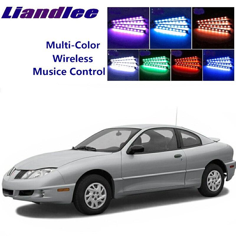 LiandLee Car Glow Interior Floor Decorative Seats Accent Ambient Neon light For Pontiac Sunfire 1995~2005
