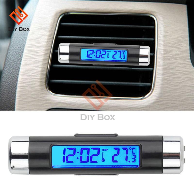 Портативные 2 в 1 автомобильные цифровые ЖК-часы/температурный дисплей электронные часы термометр автомобильные цифровые часы автомобильные аксессуары