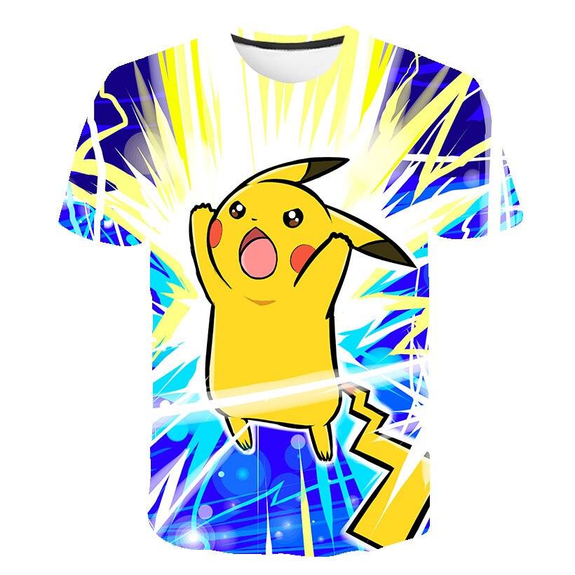 Camiseta 3D de Pokemon para bebé, ropa de Pikachu para niños, ropa para niños, tops estéticos de Anime japonés, camiseta informal, ropa de calle