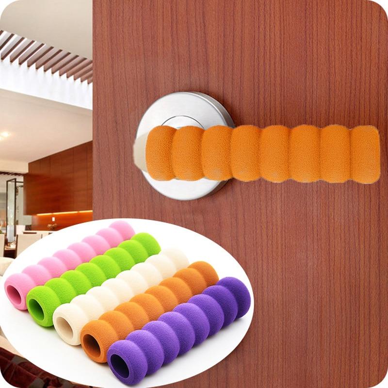 2Pcs Soft Door Handle Foam Cover Doorknob Guard Protector Anti-collision Door Stopper Safety Baby Children Protection Supplies